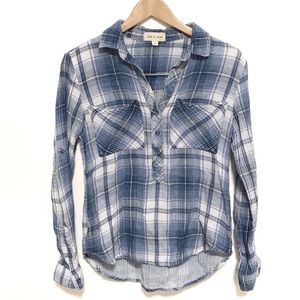 Cloth and stone cotton long sleeve button up